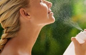 увлажнение кожи в течение дня